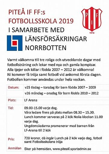 07073b063bbd Nu är det dags att anmäla sig till 2019 års Fotbollsskola. Det kan du göra  här
